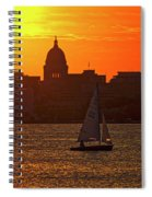 Sailing - Lake Monona - Madison - Wisconsin Spiral Notebook