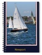 Sailing Newport Spiral Notebook