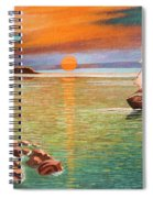 Sailing Ship And Castle Spiral Notebook