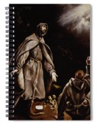 Saint Francis In Ecstasy Spiral Notebook