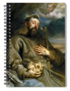 Saint Francis Of Assisi In Ecstasy Spiral Notebook