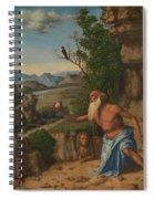 Saint Jerome In A Landscape Spiral Notebook