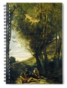 Saint Sebastian Succored By The Holy Women Spiral Notebook