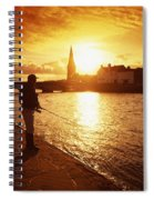Salmon Fishing, Ridgepool, Ballina, Co Spiral Notebook