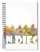 San Diego California Skyline Spiral Notebook