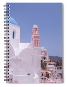 Santorini Oia Blue Domed Church Spiral Notebook