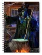Scary Old Witch With A Cauldron Spiral Notebook