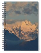 Scenic View Of The Dolomites Mountains With A Cloudy Sky  Spiral Notebook