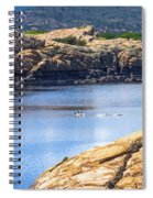 Scenic Willow Lake  Spiral Notebook
