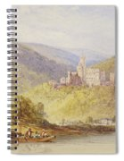 Schloss Stolzenfels From The Banks Of The Lahn Spiral Notebook