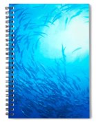 School Of Bigeye Jacks Spiral Notebook