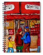 Schwartz's Hebrew Deli Spiral Notebook