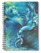 Seahorses In Love 3 Spiral Notebook