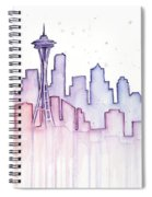 Seattle Skyline Watercolor Spiral Notebook
