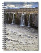 Selfoss Waterfall Spiral Notebook