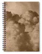 Sepia Clouds Spiral Notebook