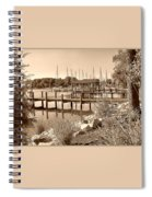 Sepia Waterscape Spiral Notebook
