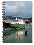 September Morning - Lyme Regis Harbour Spiral Notebook