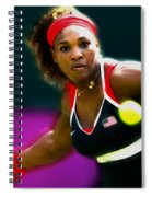 Serena Williams Eye On The Prize Spiral Notebook