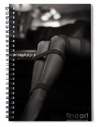 Sexy Woman Sitting On A Sofa Wearing High Heels And Stocking, Wi Spiral Notebook