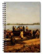 Shad Fishing On The Delaware River Spiral Notebook