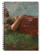 Shepherd Girl Resting Spiral Notebook