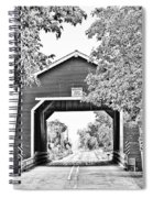Shimanek Covered Bridge -surreal Bw Spiral Notebook