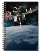 Shuttle Docked At Space Station Spiral Notebook