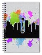 Seattle Skyline Silhouette Spiral Notebook