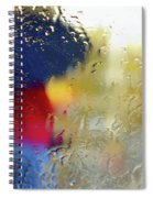 Silhouette In The Rain Spiral Notebook