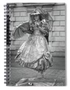 Human Statue - Black And White Spiral Notebook