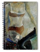 Sitting Girl  Spiral Notebook