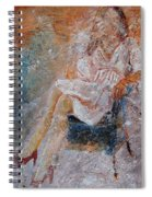 Sitting Young Girl Spiral Notebook