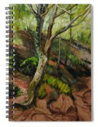 Sketch Of A Treetrunk Spiral Notebook