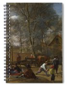 Skittle Players Outside An Inn Spiral Notebook
