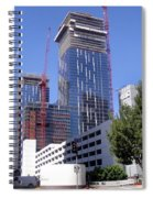 skyscraper construction in Downtown Los Angeles... Spiral Notebook