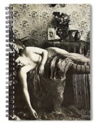 Sleeping Woman, C1900 Spiral Notebook