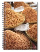 Small Asian Dried Shrimp In Kep Market Cambodia Spiral Notebook