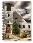Small Town Church Spiral Notebook