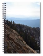 Smoky Evening Vista Over Kings Canyon Spiral Notebook