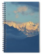 Snow Capped Dolomite Mountains In The Countryside Of Italy  Spiral Notebook