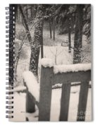 Snow Covered Benches Spiral Notebook