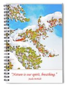 Snow-covered Conifer Spiral Notebook