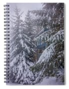 Snow Covered Trees In The North Carolina Mountains During Winter Spiral Notebook