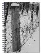 Snow Fence Spiral Notebook