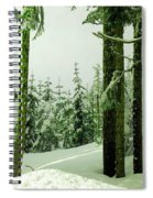 Snow In The Forest Spiral Notebook