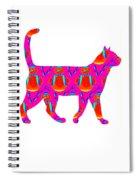 Snowman Cat Spiral Notebook