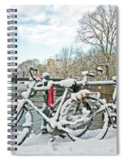 snowy Amsterdam in the Netherlands Spiral Notebook