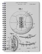 Soccer Ball Patent  1928 Spiral Notebook