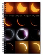 Solar Eclipse - August 21 2017 Spiral Notebook